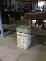 Unique Pair of Stone Pillar End Tables Nightstands in Aurora, Illinois