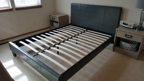 Faux Leather Queen Size Bed Frame in Colorado Springs, Colorado