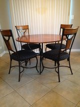 "Hillsdale 48"" Round Wood Table w/black metal legs & 4 Matching Chairs in Aurora, Illinois"