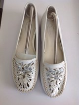 White leather sequined loafers size7 in Camp Pendleton, California