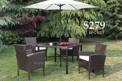 6PC PATIO DINING SET AND MORE FREE DELIVERY in Camp Pendleton, California
