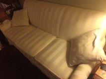 Tan/Beige Sofa With Two Matching Pillows For Sale in Bartlett, Illinois