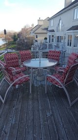PATIO SET WITH 6 CHAIRS (and umbrella) in Aurora, Illinois