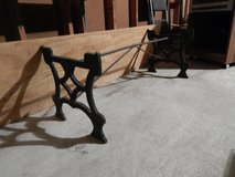 wrought iron coffee table base in Beaufort, South Carolina