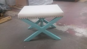 New tufted bench in Wilmington, North Carolina