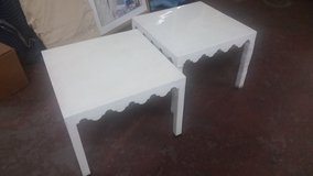 Pair of new whits acrylic end tables in Wilmington, North Carolina