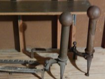 brass end irons for fire place in Beaufort, South Carolina
