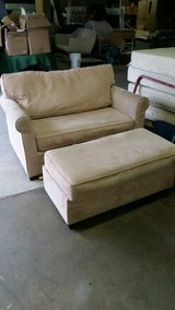 1 1/2 sleeper chair with ottoman in Wilmington, North Carolina