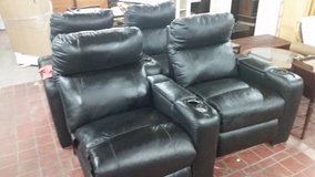 Leather theater chairs by Lane in Wilmington, North Carolina