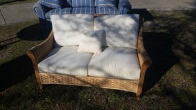 Rattan loveseat in Wilmington, North Carolina