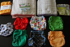 Cloth Diapers and Accessories—Brand New—Washed But Never Used in Aurora, Illinois