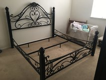 Metal king size bed frame in Fort Irwin, California