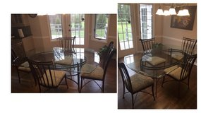 Glass Top Dinette Set, 4 chairs in Bolingbrook, Illinois