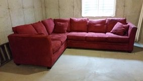 Red/maroon sectional couch in Aurora, Illinois