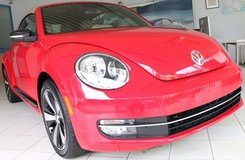 2013 VW Beetle TURBO, Leather, Heated Seats, Soft Top, like NEW! in Ansbach, Germany