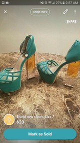 Brand new Teal Green Heels in Fort Benning, Georgia