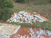 Broken Concrete Pieces in Warner Robins, Georgia