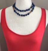 Blue faux stone necklace in Hinesville, Georgia