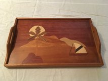 Hawaii Kona Wood Serving/TV Tray with legs in Quantico, Virginia