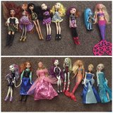 Barbie, Tinkerbell, Monster High, Ever after high dolls in Temecula, California