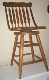 Solid Wooden Swivel High Chair Bar Stool in Valdosta, Georgia