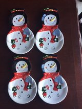 snowmen plates set in Morris, Illinois