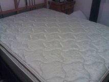 Queen Pillow-top mattress and box spring in Belleville, Illinois