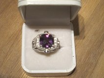 NEW Sterling Silver Amethyst Ring size 8 in Stuttgart, GE