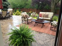 REDUCED - Winston Patio Furniture - cast iron perfect condition in Naperville, Illinois