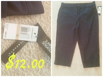 Size 12, Navy Capri new w/tags in Chicago, Illinois
