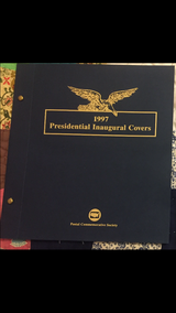 1997 Presidential Inaugural First Day Covers in Camp Lejeune, North Carolina