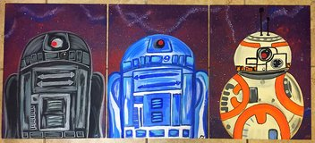 Abstract Star Wars Trio Paintings in Camp Pendleton, California
