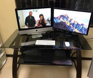 iMAC 21.5in late 2015 with Dell Monitor, Chair, and Glass Desk in Okinawa, Japan