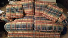 Couch and love seat with matching pillows in Bartlett, Illinois