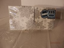 125 Beverage Napkins  silver w/snowflakes in Chicago, Illinois