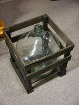Demi John bottle with wood box ( we have still 3 pices ) in Ramstein, Germany