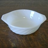 NINE (9) ANCHOR HOCKING FIRE KING WHITE SWIRL BOWLS BAKERS TAB-HANDLE in St. Charles, Illinois
