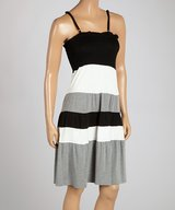 Black & Gray Stripe Dress in Lufkin, Texas