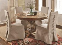 """Rustic Distressed Round """"Cabana"""" Table in Beaufort, South Carolina"""