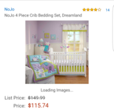 Nojo Dreamland Crib Bedding Set & Musical Mobile in Okinawa, Japan