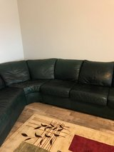 BRAND NEW! BLACK ITALIAN LEATHER SECTIONAL in Peoria, Illinois
