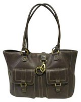 Chaps Leather Brown Tote(Naperville) in Naperville, Illinois