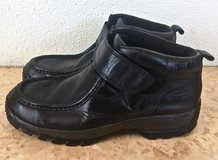SAO Men's Black Leather Ankle Boots. Size 11 1/2 M. in Okinawa, Japan