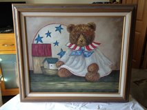 Americana Bear Textured Oil Painting in Yorkville, Illinois