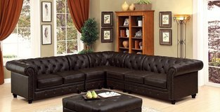 BRAND NEW! LUXURIOUS UPSCALE LEATHER TUFTED SOFA SECTIONAL in Camp Pendleton, California