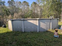 "24'×52"" metal pool in Hinesville, Georgia"