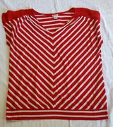#42 Maternity Size XL Red & White Top in Fort Benning, Georgia