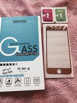 Iphone 7 glass protector rose gold in Temecula, California