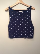 """Hollister"" sleeveless top with polka-dots Size L in Plainfield, Illinois"