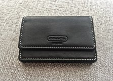 NEW Authentic COACH Black Leather Credit/ Business/ ID Card Holder/ Mini Wallet in Okinawa, Japan